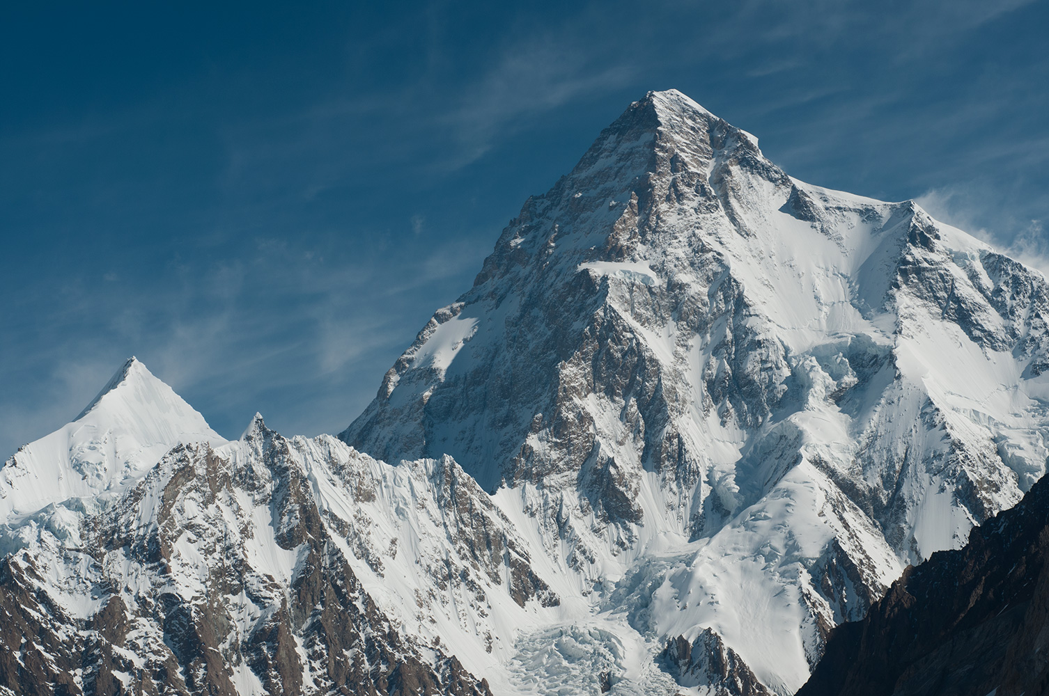 From the Godwin Austen glacier near Broad Peak base campNikon D300, 60mm