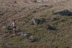 The inaugural Carrock Fell Race - a 9km race from Calebreck to the summit of Carrock and back over High Pike - was run on 20th March 2016.Ricky Lightfoot won the mens race - here he is at the bottom of High Pike heading for the finish
