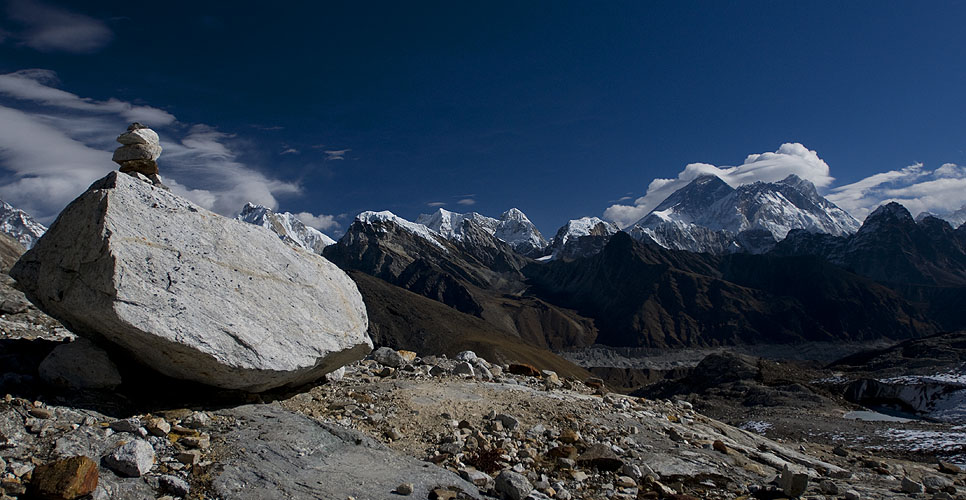 A view over Gokyo to Everest etcNikon D300, 17-35mm