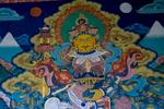 Mural detail at Punakha Dzong, Bhutan