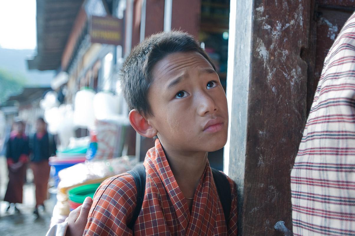 Wangdue Phodrang, Bhutan. A boy in the central bazaarNikon D300, 17-35mm