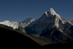 From Dzongla, with Chhukung Peak (6430m) to the left (north)Nikon D300, 50mm