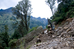 This picture clearly shows why infrastructure projects like roads in Bhutan are slow to complete!Nikon D300, 17-35mm