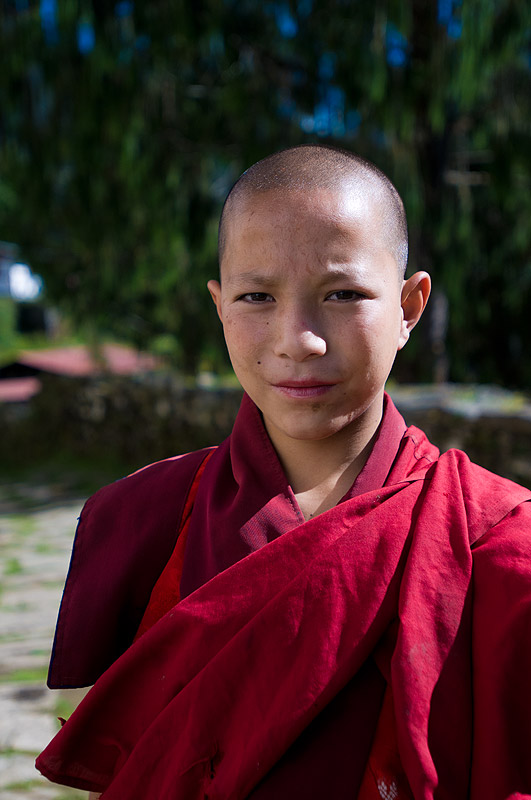 Novice Monk at Gasa Dzong, Bhutan