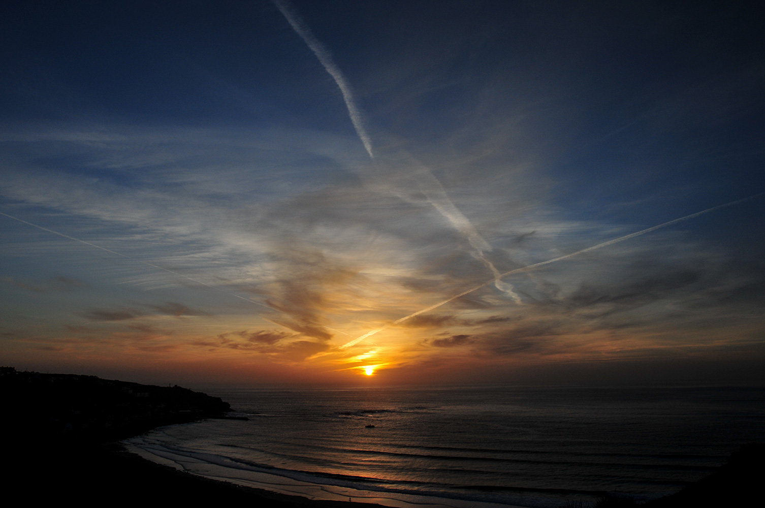 Sunset at Sennen Cove, Cornwall