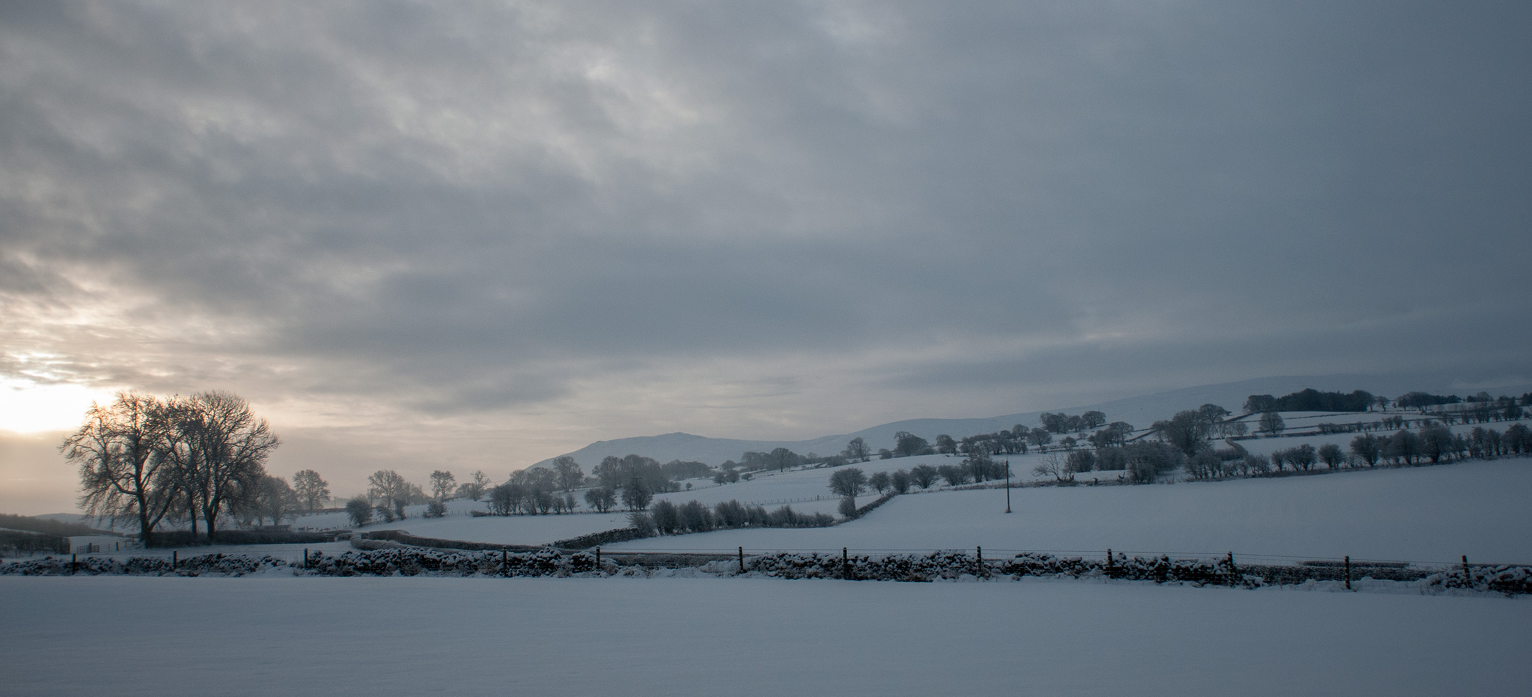 Carrock Fell & High Pike from the fields between Hesket Newmarket & Caldbeck in winter