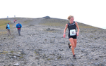 Keswick, Cumbria, September 2009Anna Frost winning the womens' up-hill mountain race for New Zealand on the summit of Skiddaw.