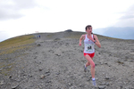 Keswick, Cumbria, September 2009.Rebecca Robinson chasing Anna Frost and Katie Ingram to the summit of Skiddaw to claim the bronze medal in the Women's Up-hill Mountain race for England.