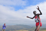 Keswick, Cumbria, September 2009Wilson Chemweno of Kenya crossing the line to win a gold medal in the Men's Up-hill Race on the summit of Skiddaw