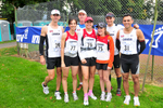 Keswick, Cumbria, September 2009.Team Canada before the start of the 100km road race in Keswick