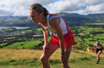 The womens' fell race on Latrigg.Keswick, Cumbria, September 2009.
