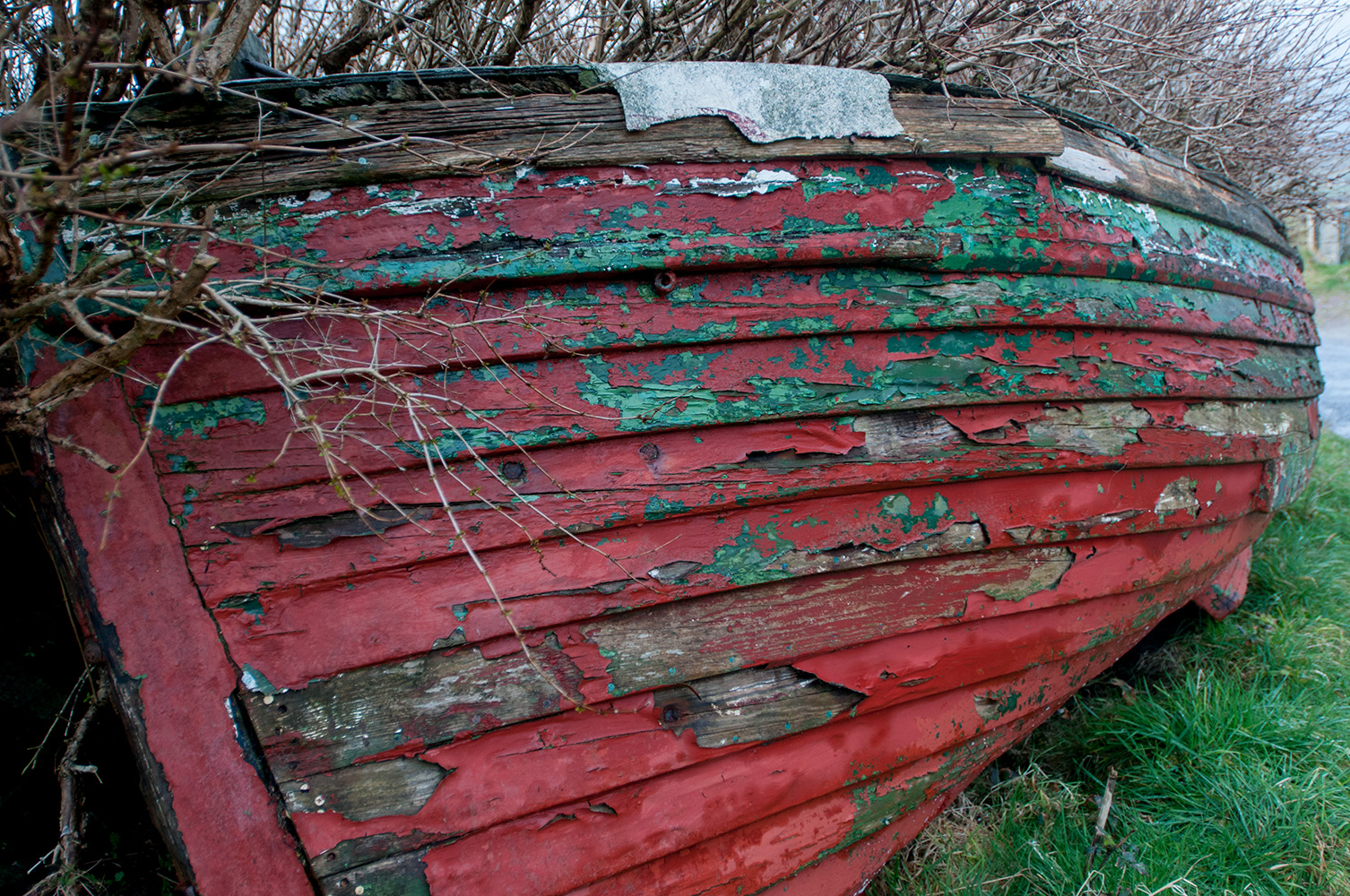 An old boat at CoghaneCounty Kerry, Republic of Ireland