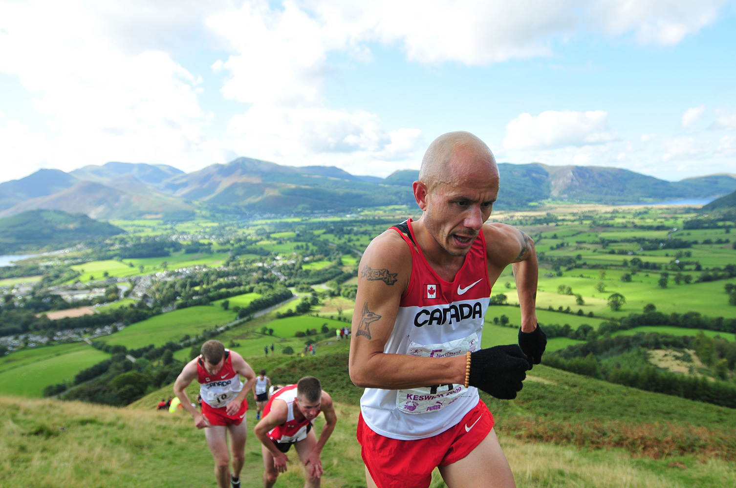 I shot this event for the I.A.U. in Keswick in September 2009. Competitors in the Mens' Fell Race on Latrigg.