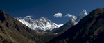 A view up valley from just above Namche Bazaar, to Thyangboche, Ama Dablam, Nuptse & EverestNikon D300, 17-35mm