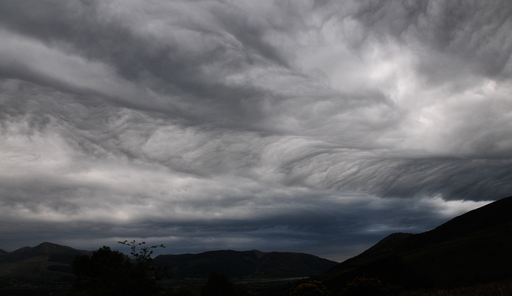 Asperatus Cloud over Keswick, Cumbria