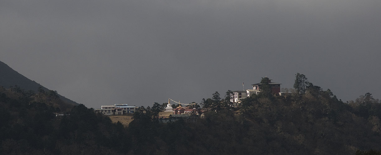 The most famous Buddhist monastery in Nepal, seen from near PangbocheNikon D300, 180mm