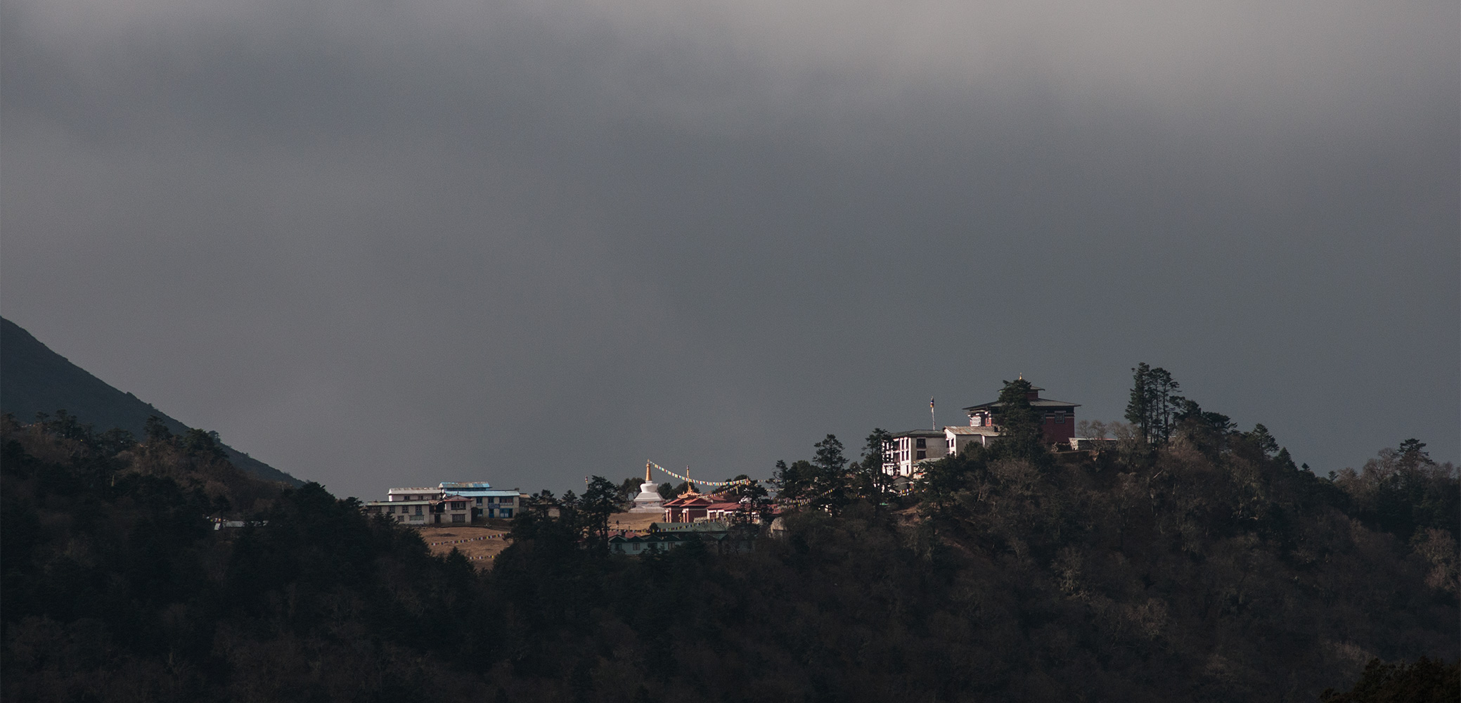 Sometimes written as Thyangboche. A view of the monastery from DebocheNikon D300, 180mm