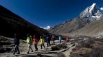 Walking up the Imja Khola valley from DingbocheNikon D300, 17-35mm