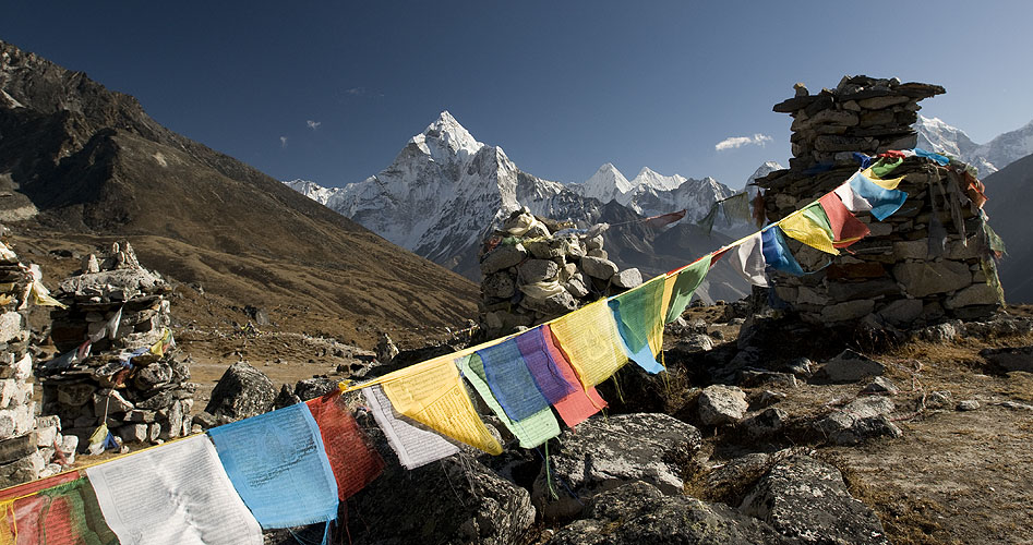 From the Thok La (4830m) above Dughla on the trail to Lobuche / Everest BCNikon D300, 17-35mm