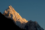 At sunset from a point about half way up Kala Pattar from Gorak ShepNikon D300, 180mm