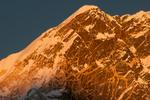 The summit at sunset from Kala PattarNikon D300, 180mm
