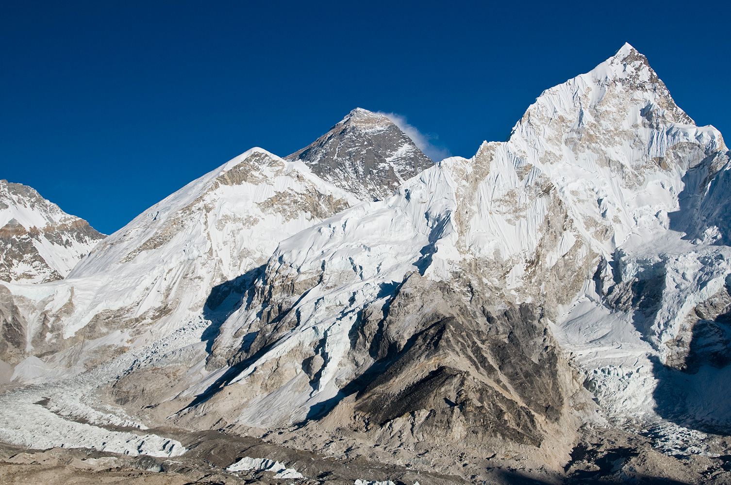 From Kala Pattar (5550m) above Gorak Shep on the Khumbu glacierNikon D300, 17-35mm