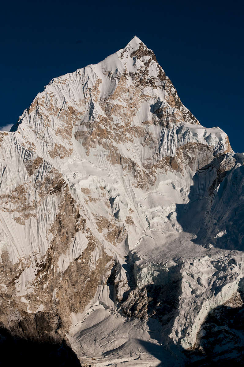 Late afternoon light. From the moraine of the Khumbu glacier at Gorak ShepNikon D300, 17-35mm. November 2008