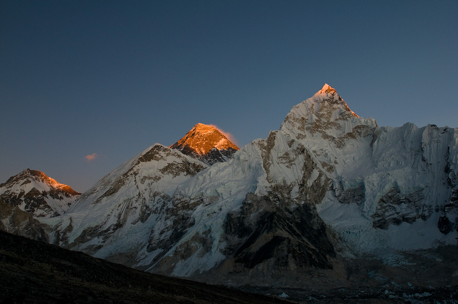 At sunset, from Kala PattarNikon D300, 50mm