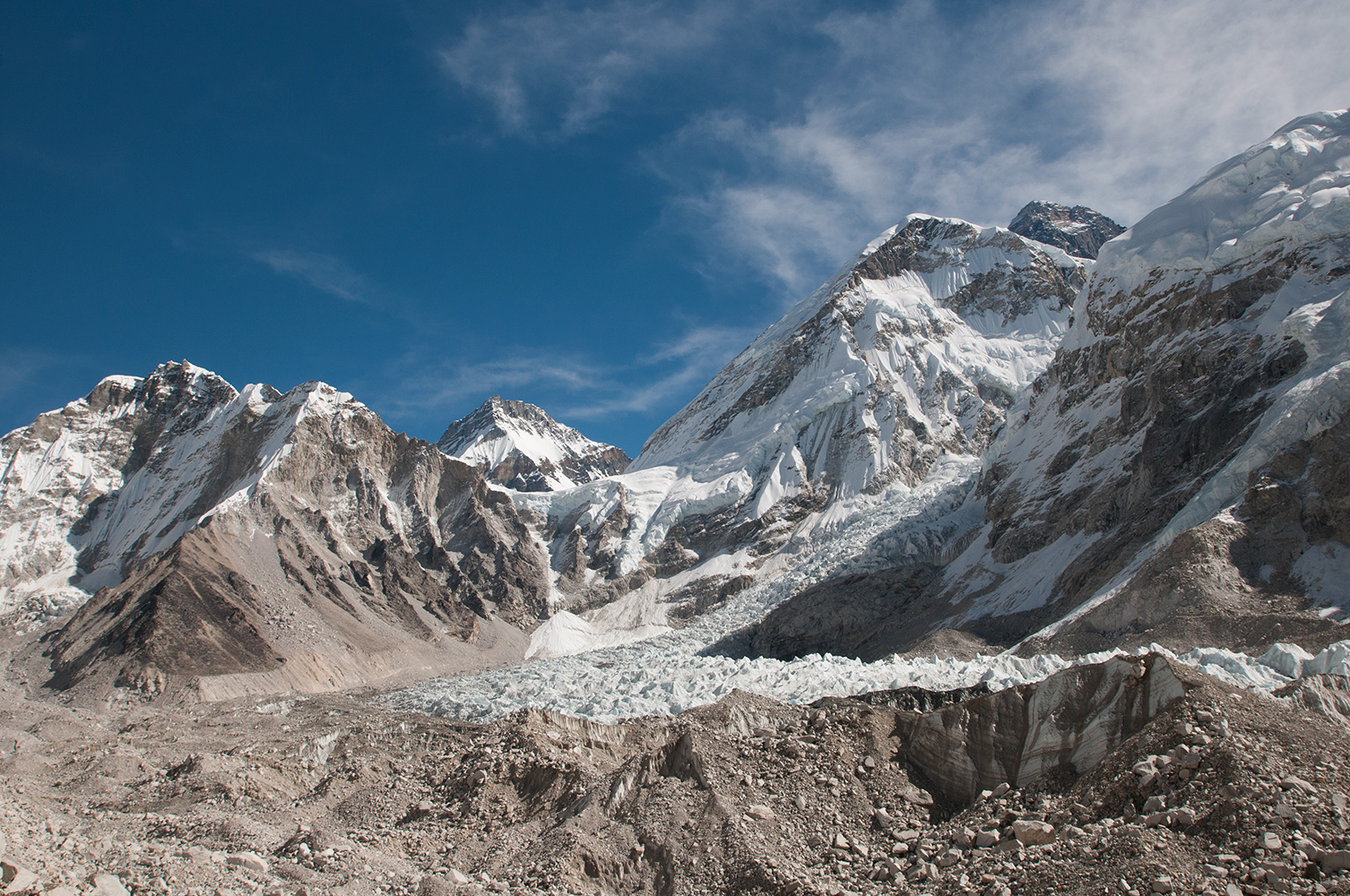 From Everest Base Camp on the Khumbu glacier