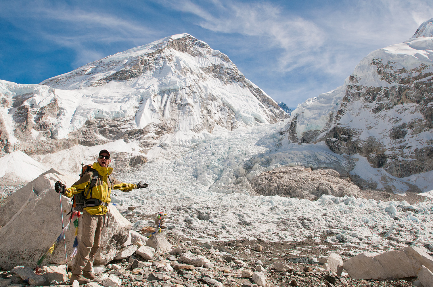 An old style selfie using tripod and self-timer! At the end of November the base camp is desertedNikon D300, 17-35mm