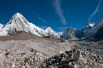 From the Khumbu Glacier below Gorak Shep, with Lingtren, Khumbutse & the Lho La (pass into Tibet) also visibleNikon D300, 17-35mm