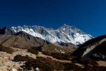 The vast south wall, seen from the trail up the Imja Khola to Chhukung.Nikon d300, 17-35mm. November 2008