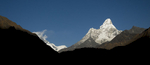 This beautiful peak stands sentinal over the Khumbu valley, seen from Kyangjuma villageNikon D300, 50mm