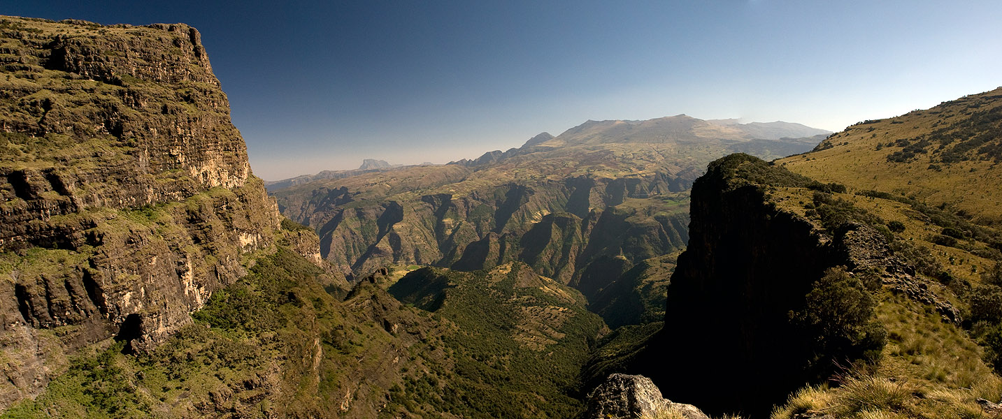 A panorama of two images stitched together from this viewpoint between Imet Gogo and Inatye
