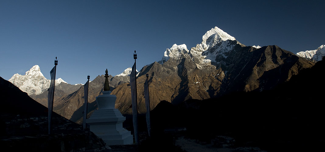 Seen from Khunde village, with Ama Dablam on the far leftNikon D300, 17-35mm