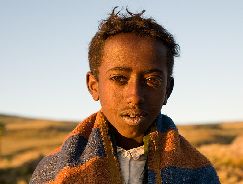 Portrait of a young shepherd boy