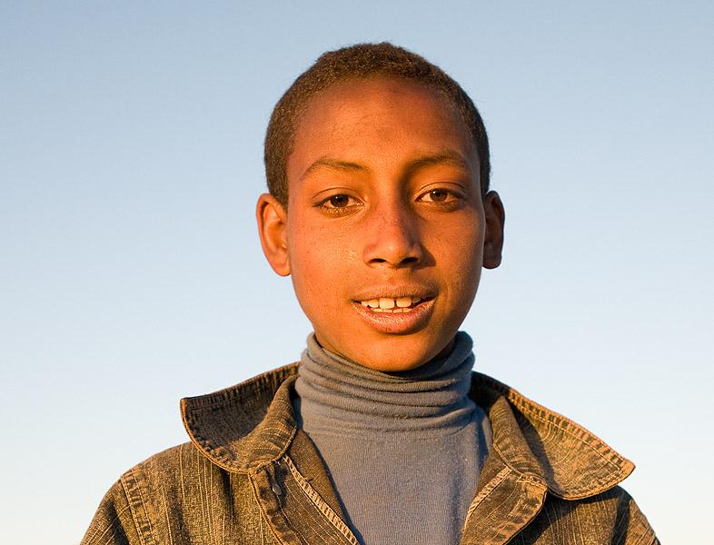 Portrait of a young shepherd boy