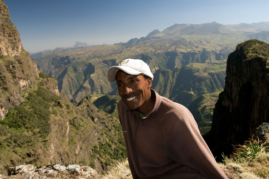 Our guide in the Simien Mountains National Park