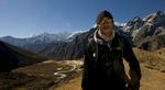 My sirdar, above Lugden on the climb to the Renjo LaNikon D300, 17-35mm