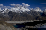 From left to right ; Changtse (7583m), Everesrt (8858m), Nuptse (7879m), Lhotse (8516m) & Makalu (8485m)Nikon D300, 50mm