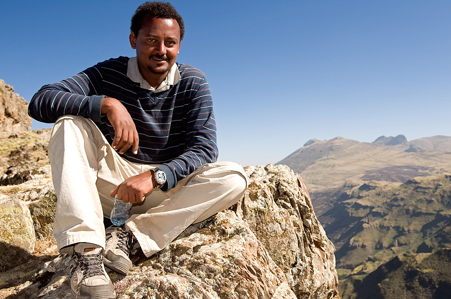 Our guide on this trip, from Kibran Tours in Addis Ababa