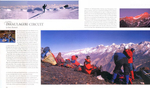 A double page spread from this acclaimed title, showing four of my images. This is the opening spread of the chapter about the Dhaulagiri circuit in Nepal