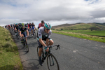 The peleton at the top of the descent into Uldale from Caldbeck Commons