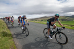Riders at the start of the descent into Uldale from Caldbeck Commons, Cumbria