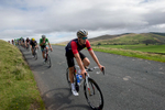 Olympic Champion Phillip Hindes of Team Wiggins at the start of the descent into Uldale from Caldbeck Commons in Cumbria during Stage 2