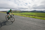 Miguel Angel BENITO DIEZ of team Caja Rural on Caldbeck Commons in Cumbria during Stage 2