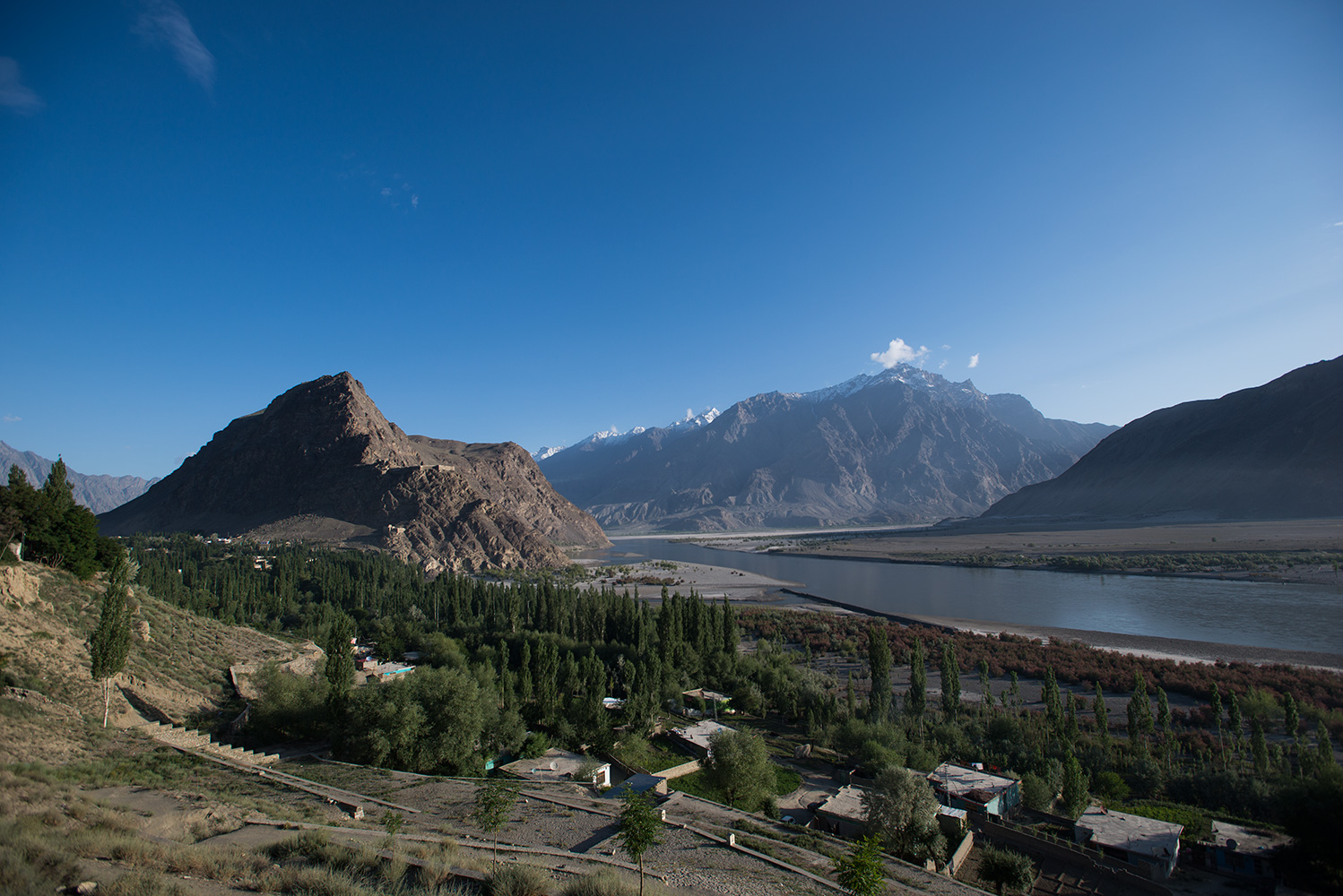 That view! From the terrace at the PTDC K2 Motel. Such a special place
