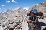 On the Baltoro Glacier near Goro