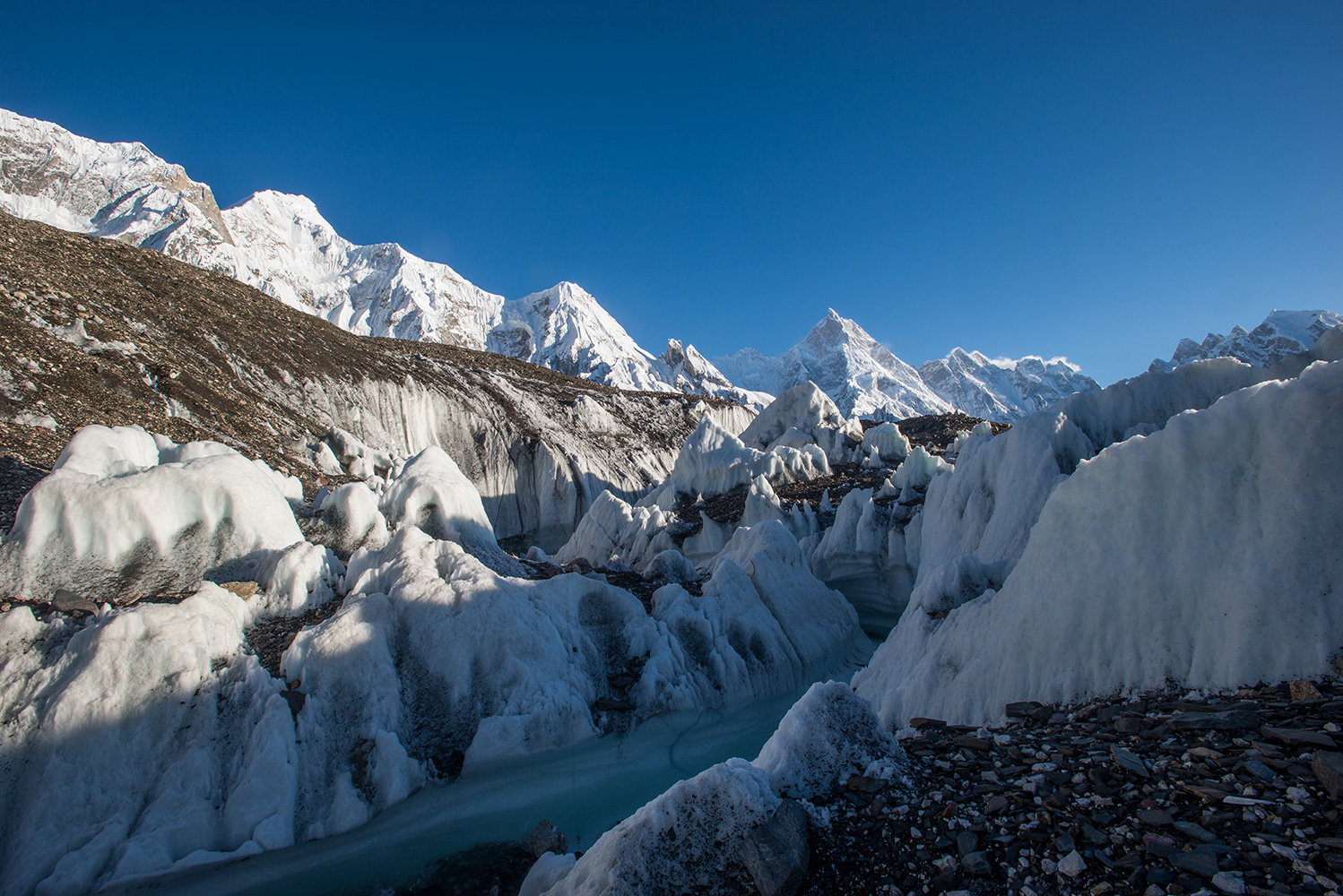 From the Baltoro glacier at Goro