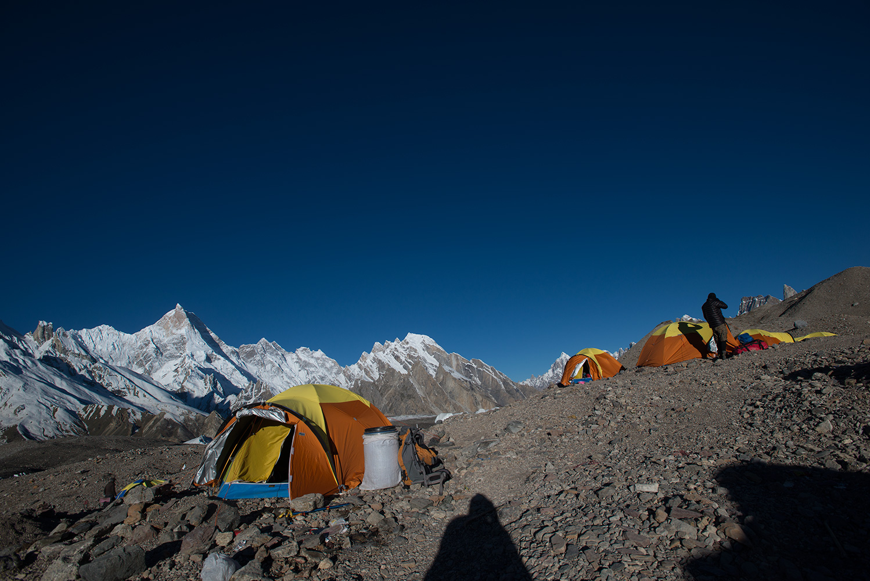 A crystal clear morning in the Karakoram! Masherbrum beyond.